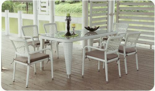 rattan masa sandalye mobilyalari Rattan Masa Sandalye Bahçe Mobilyaları