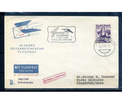 AVUSTURYA 1958 UÇAK POSTASI 40.YIL SÜPER(YZ-1)