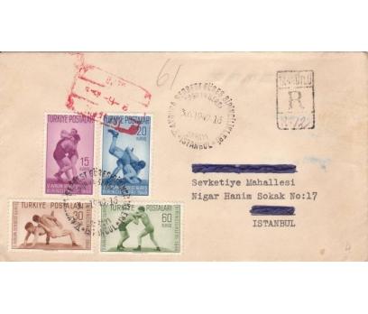 CUMHURİYET 1949 FDC V.AVR. SERBEST GÜREŞ (300415)