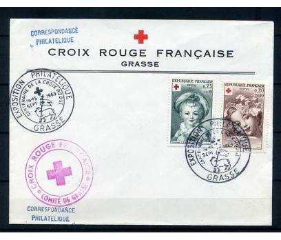 FRANSA 1963 FDC CROIX ROUGE SÜPER (280415)