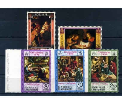 NEW HİBRİDS ** 1974-76  CHRISTMAS 2 TAM SERİ (A-1)