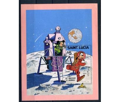 ST.LUCİA ** M.MOUSE & GOOFY BLOK(A-1)