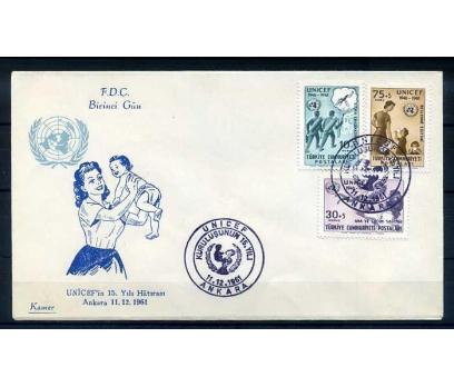 CUMH.FDC  1961 UNICEF'İN 15. YILI KAMER