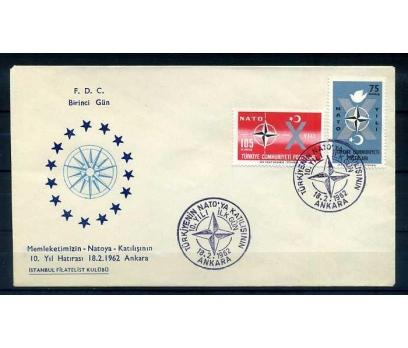CUMH.FDC  1962 NATO'DA 10.YIL İSTANBUL F. KUL
