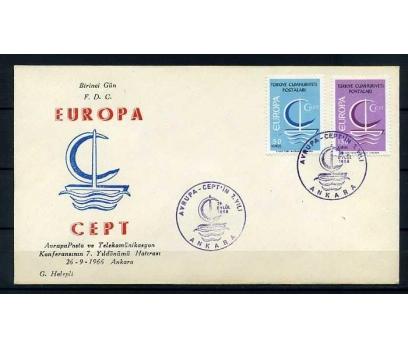 CUMH.FDC  1966 EUROPA CEPT HALEPLİ
