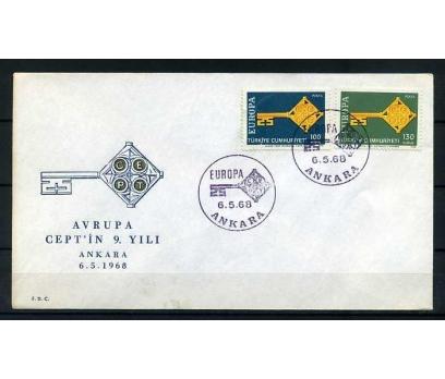 CUMH.FDC  1968 EUROPA CEPT SÜPER