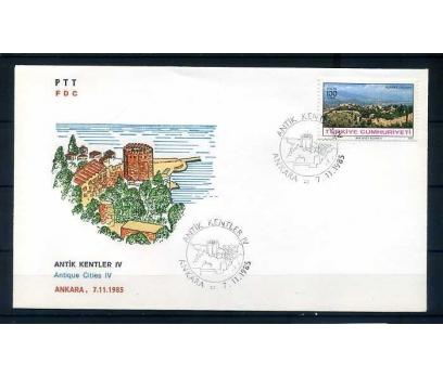 CUMH.FDC 1985  ANTİK KENTLER / ALANYA SÜPER
