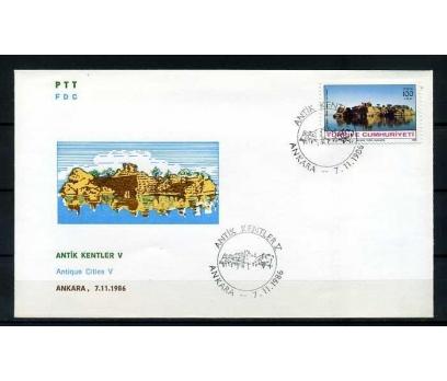 CUMH.FDC 1986 ANTİK KENTLER / KIZ KALESİ SÜPER
