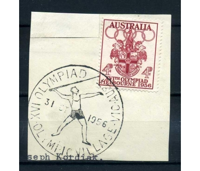AVUSTRALYA 1936 OLİMPİYAT DAMGALI FRAGMAN