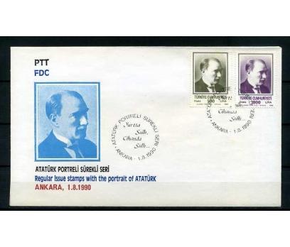 CUMH.FDC 1990 ATATÜRK PORTRELİ SERİ SÜPER