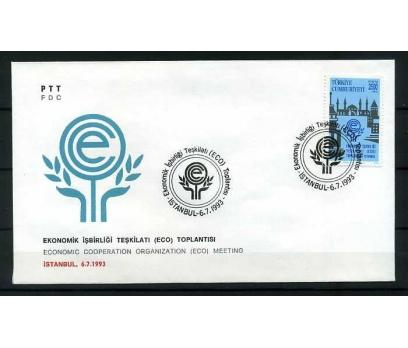 CUMH.FDC 1993 EKONOMİK İŞBİRLİĞİ TEŞKİLATI   SÜPER