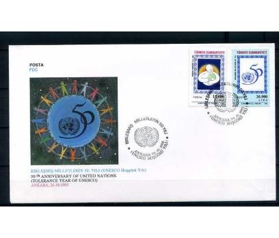 CUMH.FDC 1995 BM'İN 50.YILI (HOŞGÖRÜ YILI)