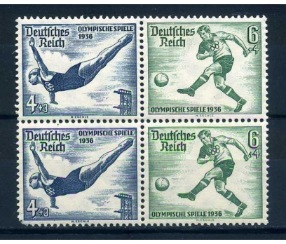 REİCH  ** 1936  FUTBOL & ATLAMA  DÖRTLÜ