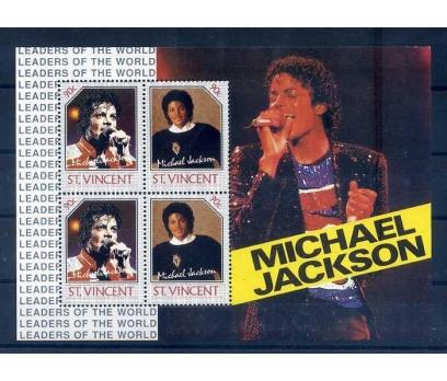 ST.VINCENT 1985 MICHAEL JACKSON BLOK-1 SÜPER(A-1)
