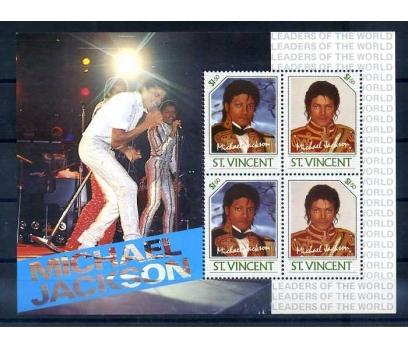 ST.VINCENT 1985 MICHAEL JACKSON BLOK-2 SÜPER(A-1)
