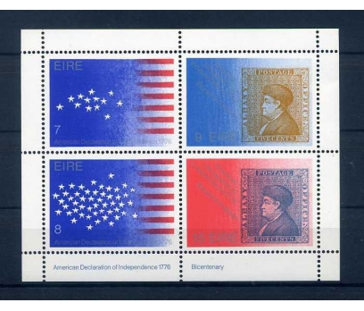 İRLANDA 1976 ABD 200 YAŞINDA ANMA BLOK SÜPER