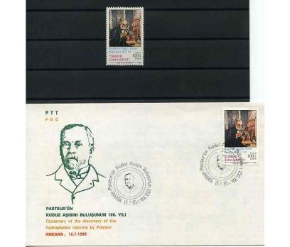CUMH.SERİ + FDC 1985 PASTEUR' ÜN KUDUZ A. BUL