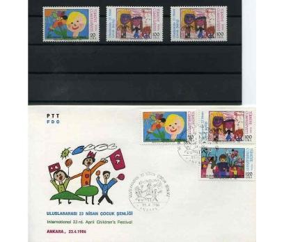 CUMH.SERİ + FDC 1986 U.23 NİSAN ŞENLİĞİ  SÜPER