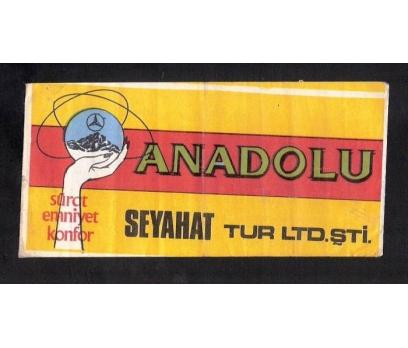 D&K- ANADOLU SEYAHAT OTOBÜS BİLETİ