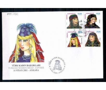 CUMH.FDC 2001 TÜRK KADIN BAŞLIKLARI SÜPER