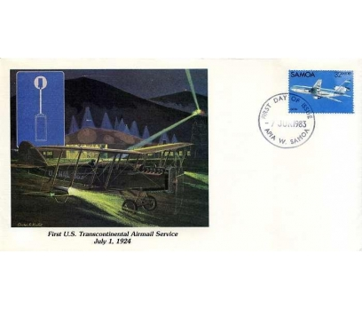 SAMOA 1983 UÇAK ÖZEL DAMGA  SÜPER(YZ-2)
