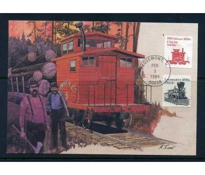 ABD 1984 KART MAX. 1870-1890 'LAR TRENLER SÜP
