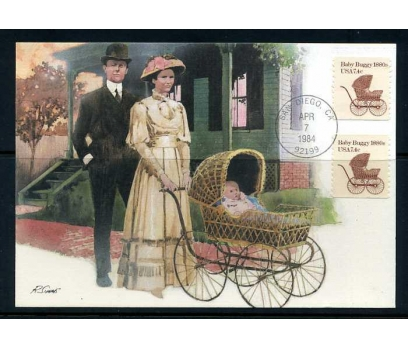 ABD 1984 KART MAX. 1880' LER BEBEK ARABASI SÜ