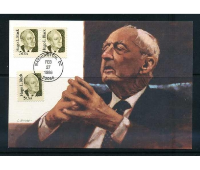 ABD 1986 KART MAX. HUGO L.BLACK SÜPER