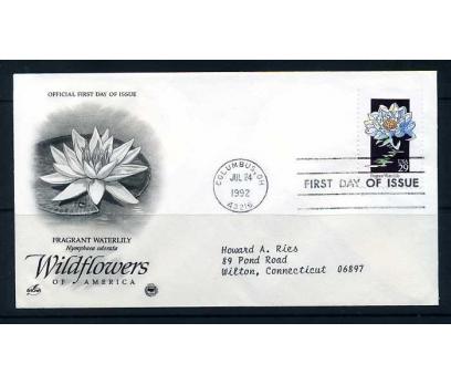 ABD FDC 1992 ÇİÇEK FRAGRANT WATERLILY SÜPER