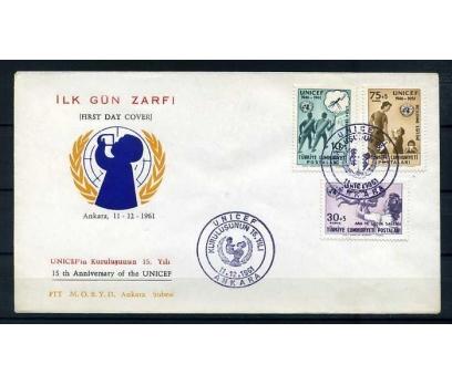 CUMH.FDC  1961 UNICEF'İN 15.YILI  SÜPER
