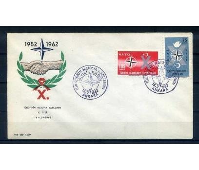 CUMH.FDC  1962 NATO'DA 10.YIL SÜPER