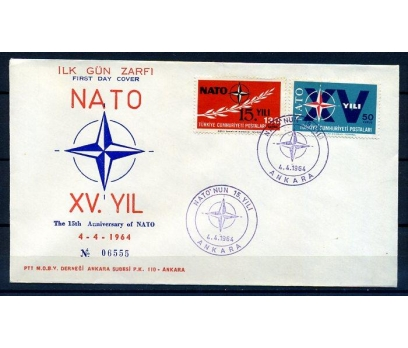CUMH.FDC  1964 NATO'NUN 15.YILI SÜPER (18-21)