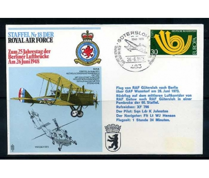 RAF ASKERİ UÇUŞ 1973 D.H.4  SÜPER