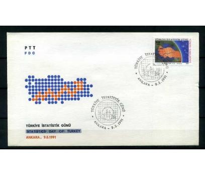 CUMH.FDC 1991 TÜRKİYE İSTATİSTİK GÜNÜ  SÜPER