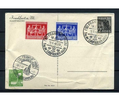 DEUTSCHE POST 1948 KLASİK HATIRA KARTI SÜPER