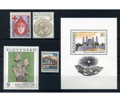 SLOVAKYA ** 1993 TABLO Vd. 4 TAM SERİ + BLOK SÜPER