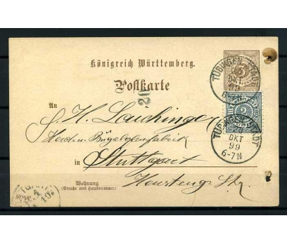 WÜRTT.POST 1899 KLASİK P.G. ANTİYE SÜPER