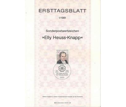 Almanya ETB 01-1981 Elly Heuss-Knapp