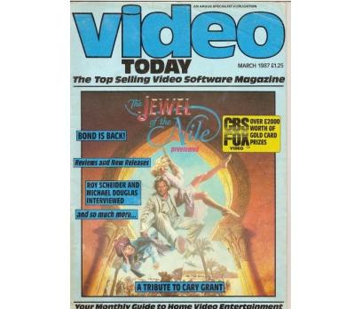 VİDEO TODAY MARCH.1987 YABANCI SİNEMA DERGİSİ