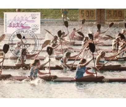 1984 Berlin Olimpiyatlar Maksimum Kart Kano Kürek