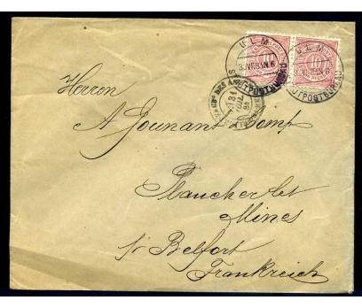 WÜRT. POST 1884 POSTADAN GEÇMİŞ PER PULLU ZARF