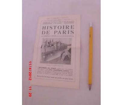 HISTOIRE DE PARIS  / ANSİKLOPEDİ TANITIM BROŞÜRÜ