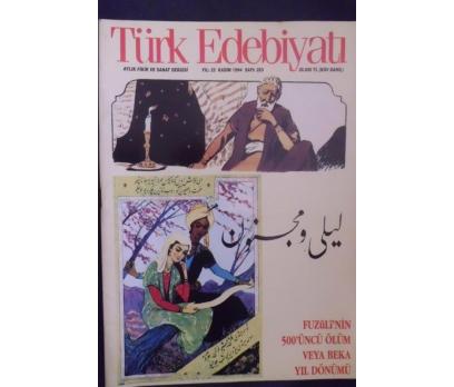 TÜRK EDEBİYATI DERGİSİ - KASIM 1994 SAYI 253