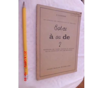 Est - ce a ou de? Societe Francaise du Livre Paris