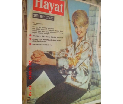 HAYAT DERGİSİ 1962 SAYI 40 DANY ROBIN