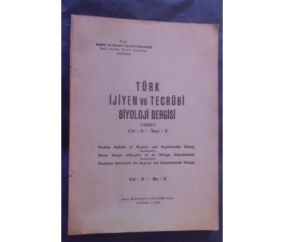 TÜRK İJİYEN VE TECRÜBİ BİYOLOJİ DERGİSİ 1949