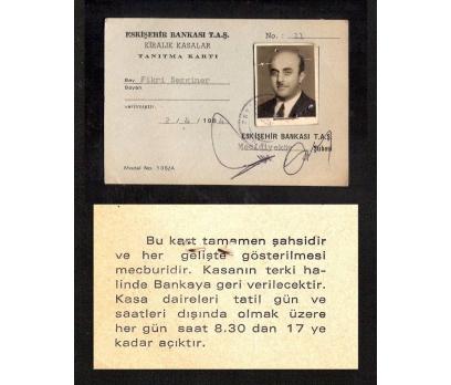 D&K-ESKİŞEHİR BANKASI KİRALIK KASA TANITMA KARTI