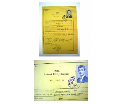 D&K- ORTA ASKERİ EHLİYETNAME 1937 YILI