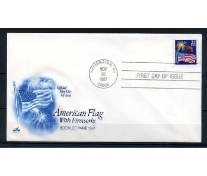 ABD 1987 FDC AMERİKAN BAYRAĞI & HAVAİ FİŞEK