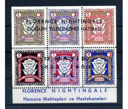 KIZILAY ** 1963 F.NIGHTINGALE BLOK 5 TL SÜPER